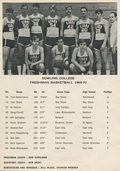 Bob with the 1969-70 freshman team
