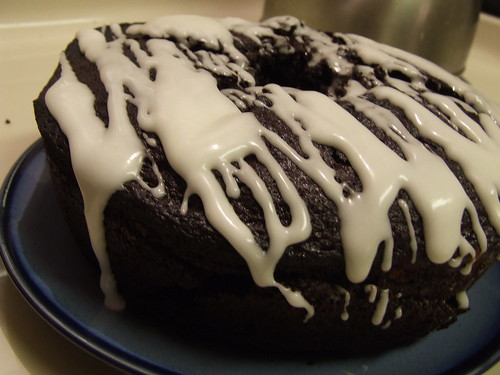 Double dark chocolate bundt cake