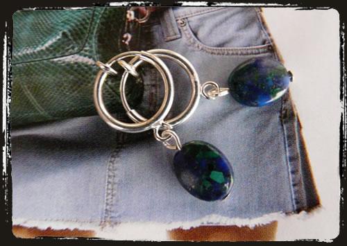 Orecchini malachite - Malachite earrings ICMEMA