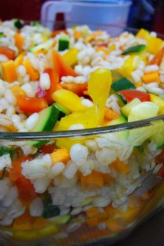 Barley Primavera salad