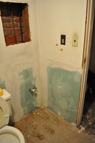 Drywall behind vanity