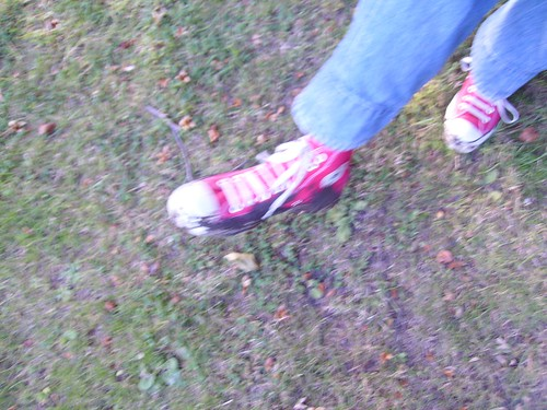 ditch mud on Liam's shoes.