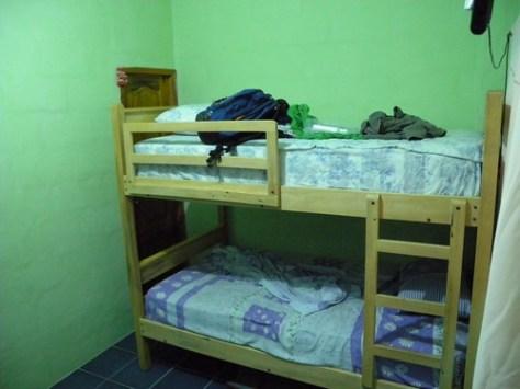 Levy's bunks and the bathroom door