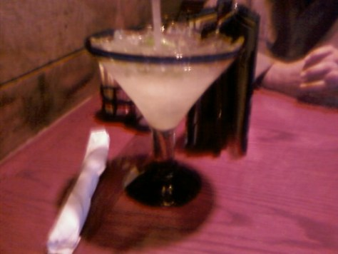 meet my drink, miss lobsterita. now to get food in my system.