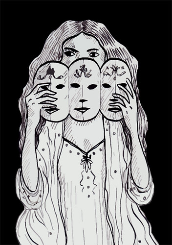 Illustration Friday: Parade (black background)