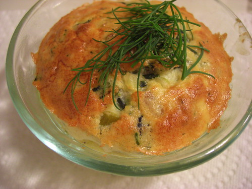 Spinach and Goat Cheese Souffle