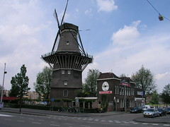 Old-style windmill, Amsterdam, June 2009.