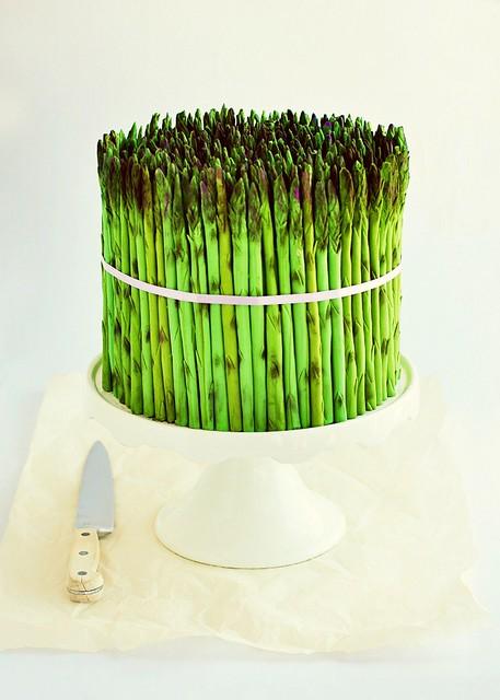 Fondant Asparagus Cake 2