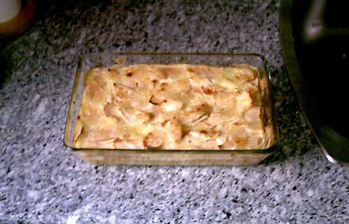 Rectangular apple pie