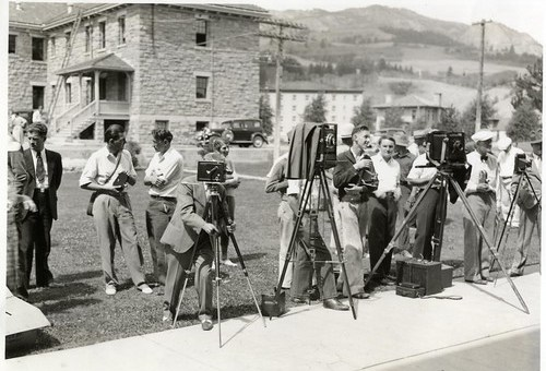Reporters with Cameras in Yellowstone Park (1951)