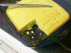 agave corn bread cut
