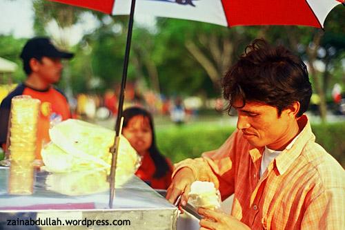 An ice-cream seller