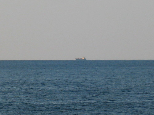 Merchant vessel off the coast