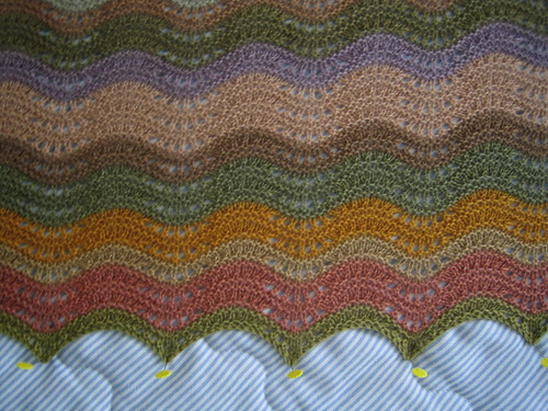 blocking shawl