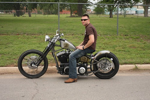 Adam Lynch, USMC, Test Rides His New Bobber