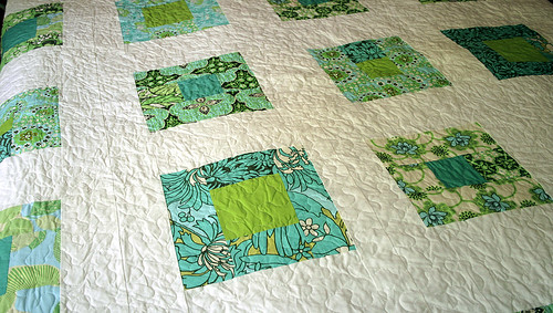 What A Bunch of Squares- quilt front detail