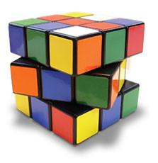 Lebih kurang macam ni la Rubik Kiub aku!