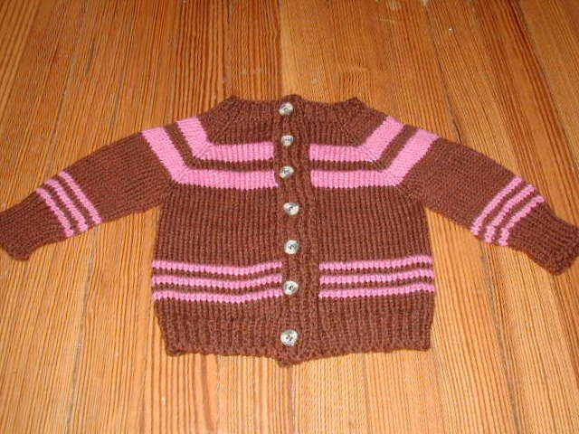 Raspberry and Chocolate Child Sweater