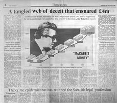 Tangled Web of deceit that ensared 4million - Scotlsman 28 November 1991