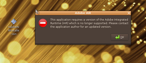 Adobe Air error dialog