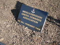 Middlesbrough Memorial Garden, Green Howards, Albert Park
