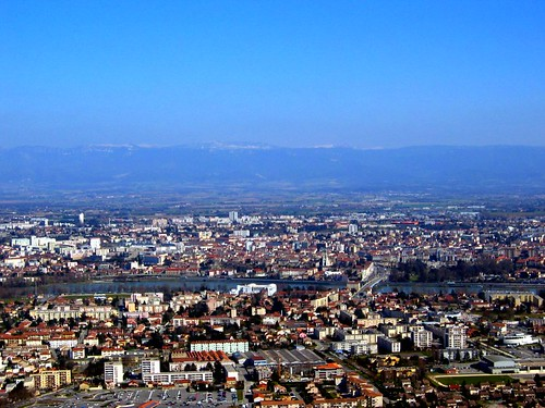 Valence, seen from the Chateau de Crussol.