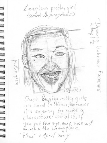 Drawing Unknown Faces, part 5, attemp 2