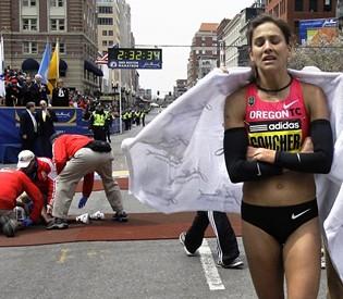 Kara Goucher in Boston Marathon 2009