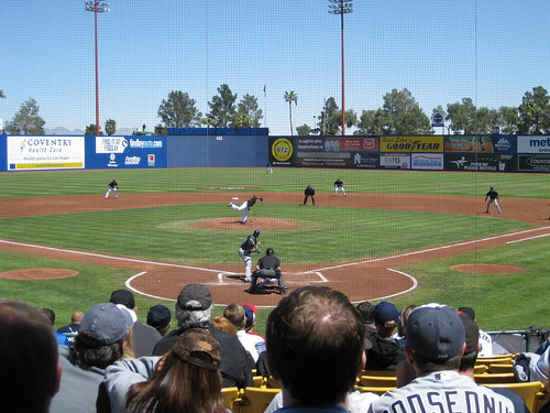 Spring Training game at Cashman Field