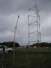 Our flagpole didnt rise as high as some others, but we were proud of it anyway.