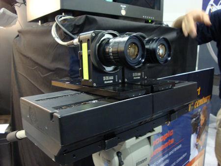 Silicon Imaging SI-2K Detachable Camera Heads Arranged For Stereoscopic Shooting