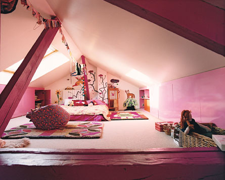 Attic conversion kid's room