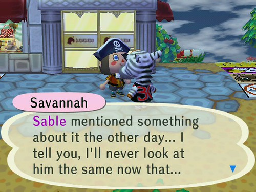 Savannah refused to finish that sentence, out of fear of a certain raccoon that she owes bells to!