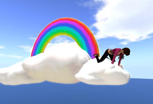 Rainbow peeking