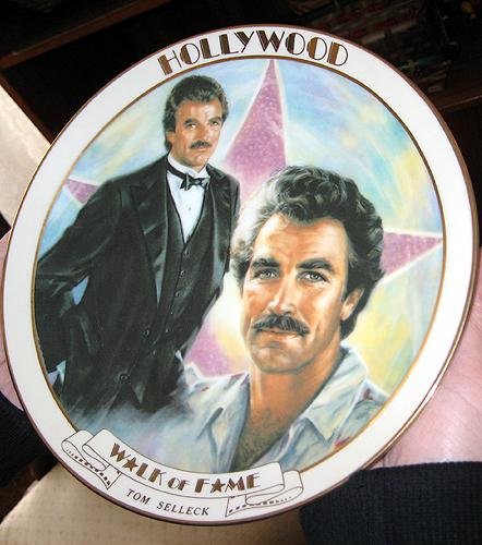 Tom Selleck commemorative plate