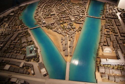 Scale model - Hiroshima before the bomb