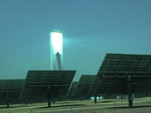 Bosque Heliostatos Central Torre Termosolar Solucar Sevilla
