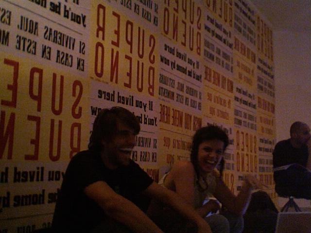 Festival Pixelache 2007. Pelegrino y Vanessa