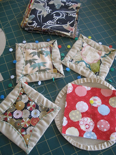 Japanese Kaleidoscope Quilt - blocks in progress by you.