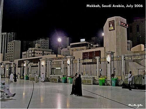 pelataran mesjidil haram, mekkah 2006