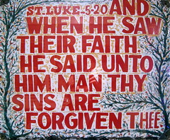 ST. LUKE 5-20 AND WHEN HE SAW THEIR FAITH. HE ...