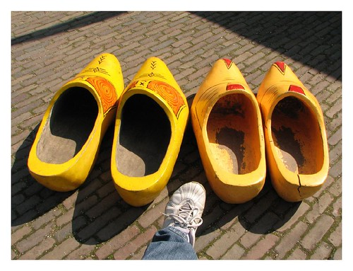 Giant wooden clogs by you.