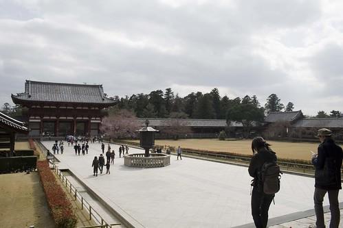 Gårdsplassen, sett fra Todaiji.