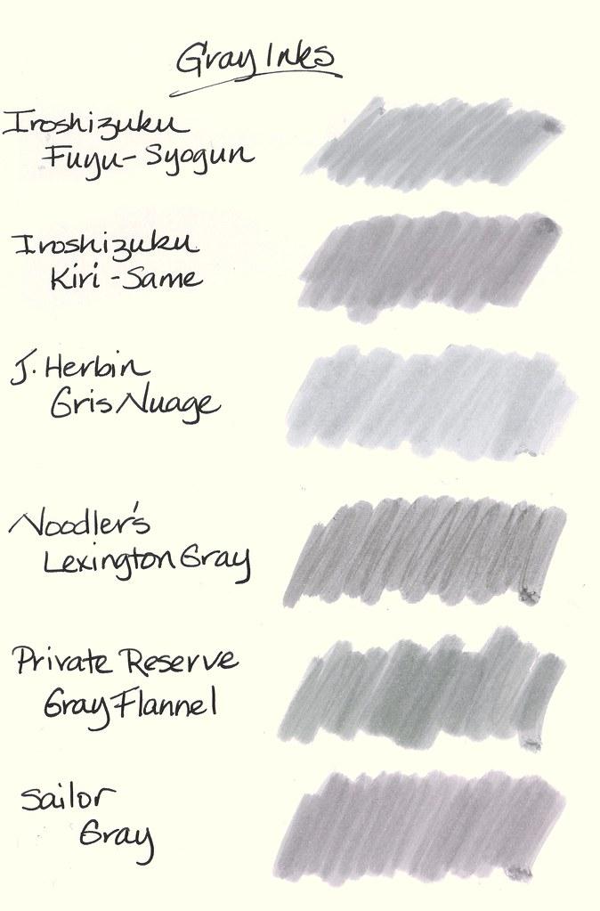 Six Gray Inks