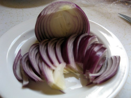 Julienne Half a Red Onion