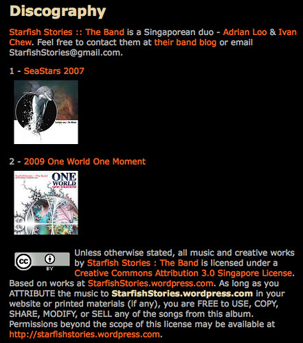 CC-Adopter: Discography « :: Starfish Stories :: The Band
