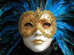 maschera blu