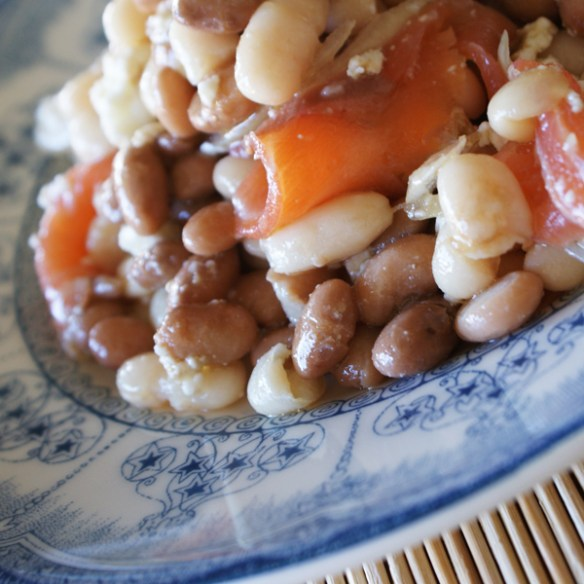 #269 - Two beans salad with smoked salmon