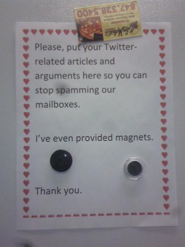 twitter magnetboard