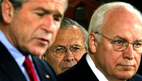 bush-rumsfeld-cheney by k000t2002